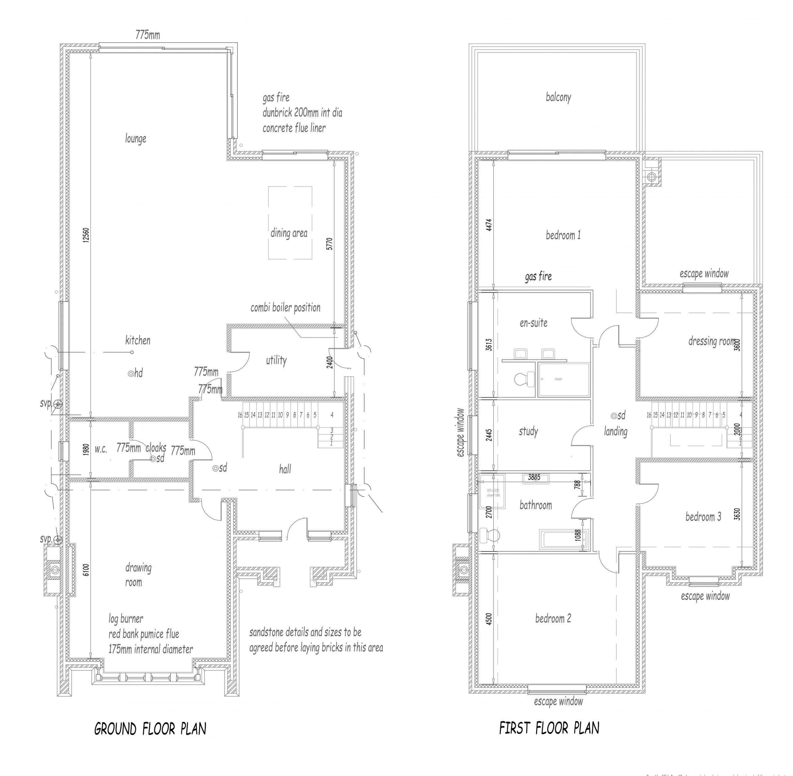 Wild Goose architect plan