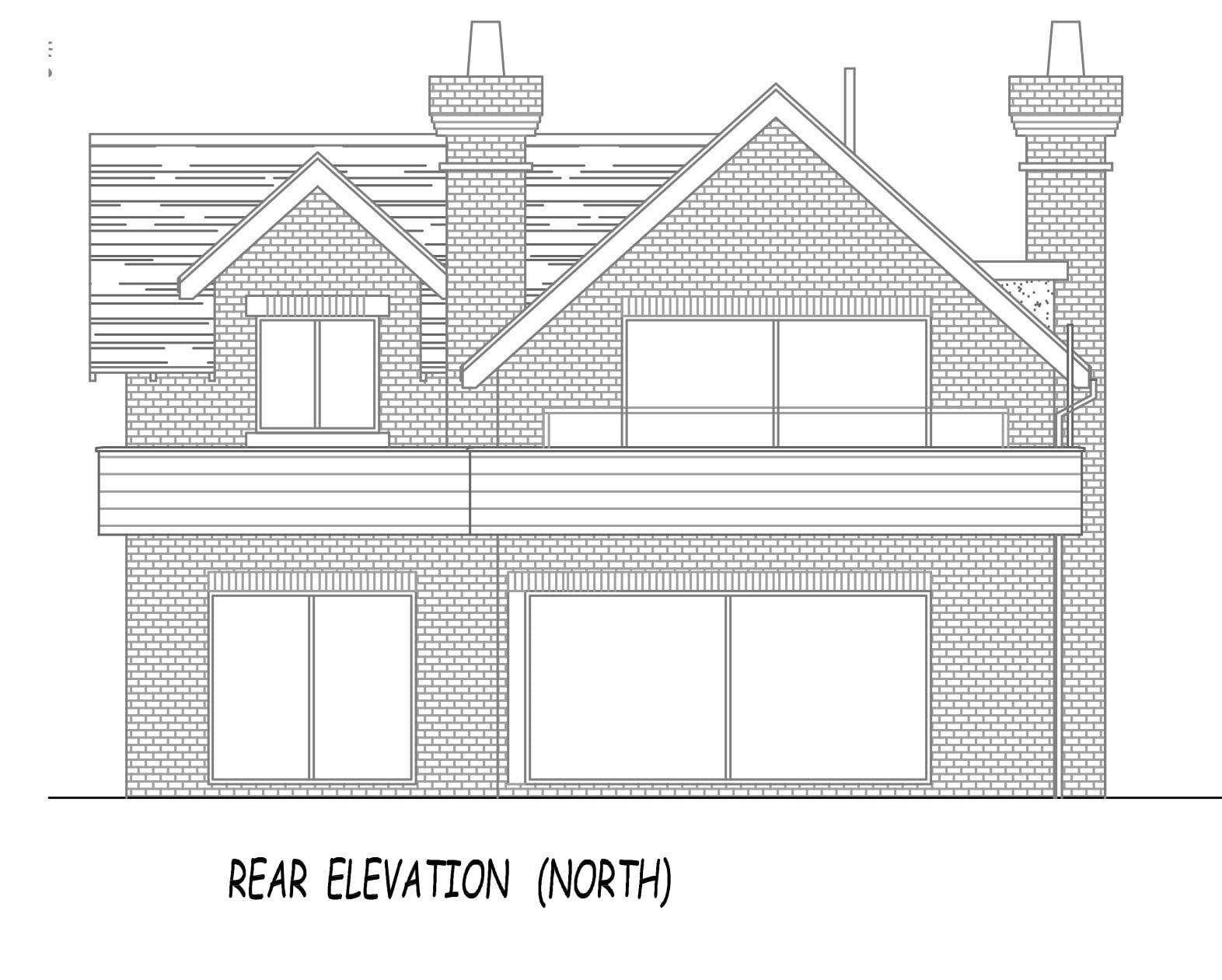 Wild Goose architect plan rear view